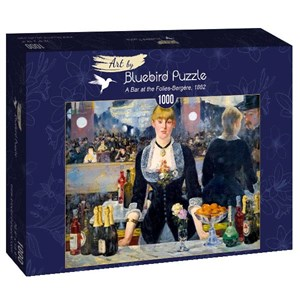 "Bluebird Puzzle (60080) - Edouard Manet: ""A Bar at the Folies-Bergère, 1882"" - 1000 piezas"