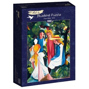 "Bluebird Puzzle (60082) - August Macke: ""Four Girls, 1913"" - 1000 piezas"