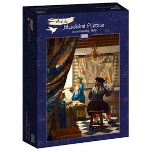 "Bluebird Puzzle (60083) - Johannes Vermeer: ""Art of Painting, 1668"" - 1000 piezas"