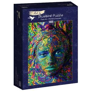 """Bluebird Puzzle (60010) - """"Face Art, Portrait of woman"""" - 1000 piezas"""
