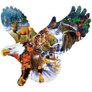 """SunsOut (97278) - Jerry Gadamus: """"Forest Eagle"""" - 1000 piezas"""