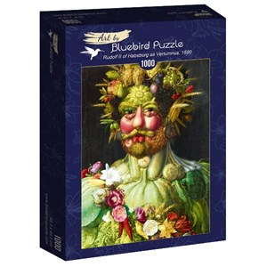 "Bluebird Puzzle (60074) - Giuseppe Arcimboldo: ""Rudolf II of Habsburg as Vertumnus, 1590"" - 1000 piezas"