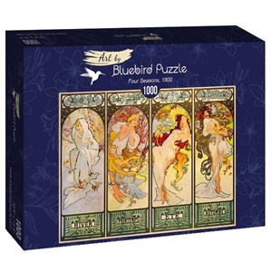 "Bluebird Puzzle (60056) - Alphonse Mucha: ""Four Seasons, 1900"" - 1000 piezas"