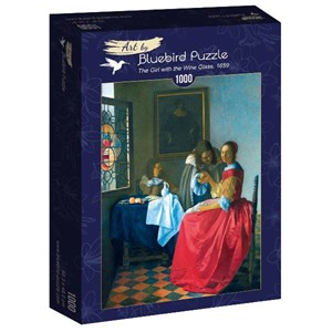 "Bluebird Puzzle (60067) - Johannes Vermeer: ""The Girl with the Wine Glass, 1659"" - 1000 piezas"