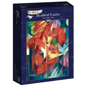 """Bluebird Puzzle (60068) - Franz Marc: """"The Foxes, 1913"""" - 1000 piezas"""
