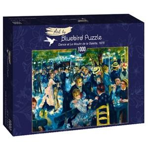 """Bluebird Puzzle (60049) - Pierre-Auguste Renoir: """"Dance at Le Moulin de la Galette, 1876"""" - 1000 piezas"""