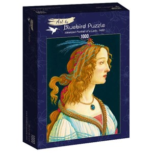 "Bluebird Puzzle (60023) - Sandro Botticelli: ""Idealized Portrait of a Lady, 1480"" - 1000 piezas"