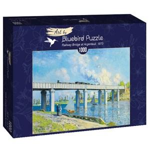 "Bluebird Puzzle (60038) - Claude Monet: ""Railway Bridge at Argenteuil, 1873"" - 1000 piezas"