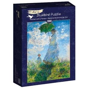 "Bluebird Puzzle (60039) - Claude Monet: ""Woman with a Parasol, Madame Monet and Her Son"" - 1000 piezas"