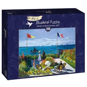 "Bluebird Puzzle (60042) - Claude Monet: ""Garden at Sainte-Adresse, 1867"" - 1000 piezas"
