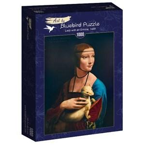"""Bluebird Puzzle (60012) - Leonardo Da Vinci: """"Lady with an Ermine, 1489"""" - 1000 piezas"""