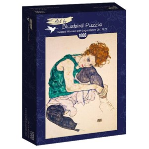 "Bluebird Puzzle (60092) - Egon Schiele: ""Seated Woman with Legs Drawn Up, 1917"" - 1000 piezas"