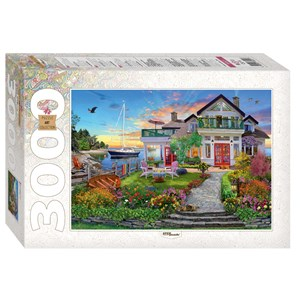 """Step Puzzle (85021) - """"House by the bay"""" - 3000 piezas"""