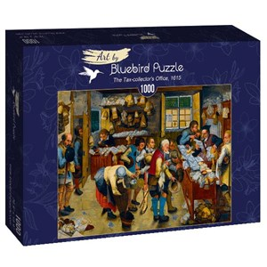 "Bluebird Puzzle (60085) - Pieter Brueghel the Younger: ""The Tax-collector's Office, 1615"" - 1000 piezas"