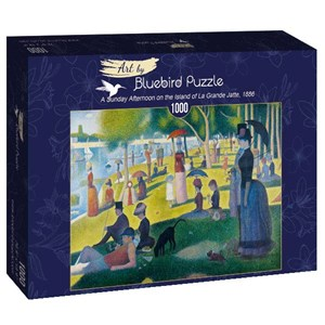 "Bluebird Puzzle (60086) - Georges Seurat: ""A Sunday Afternoon on the Island of La Grande Jatte, 1886"" - 1000 piezas"