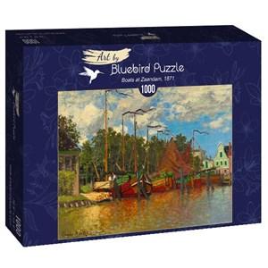 "Bluebird Puzzle (60031) - Claude Monet: ""Boats at Zaandam, 1871"" - 1000 piezas"