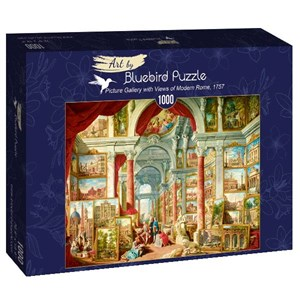 "Bluebird Puzzle (60075) - Giovanni Paolo Panini: ""Picture Gallery with Views of Modern Rome, 1757"" - 1000 piezas"