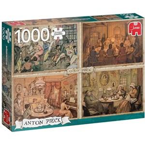 "Jumbo (18856) - Anton Pieck: ""Living Room Entertainment"" - 1000 piezas"