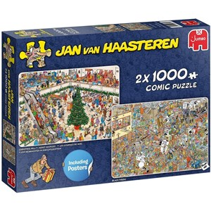 "Jumbo (20033) - Jan van Haasteren: ""Holiday Shopping"" - 1000 piezas"