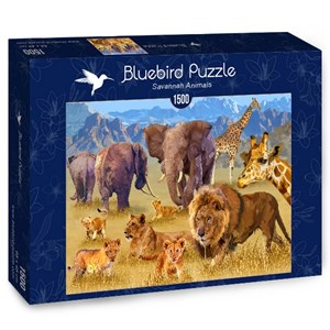 "Bluebird Puzzle (70419) - François Ruyer: ""Savannah Animals"" - 1500 piezas"