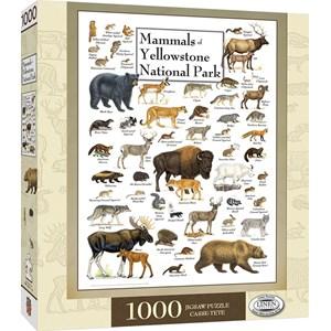 "MasterPieces (71974) - ""Mammals of Yellowstone National Park"" - 1000 piezas"