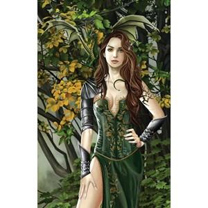 """SunsOut (67746) - Nene Thomas: """"Emerald Portrait"""" - 1000 piezas"""