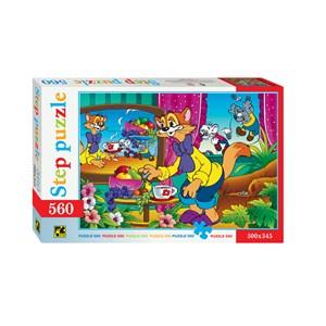 "Step Puzzle (78034) - ""Leopold the Cat"" - 560 piezas"