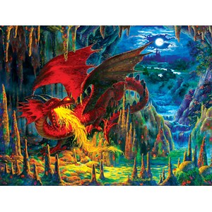"SunsOut (59775) - Liz Goodrick-Dillon: ""Fire Dragon of Emerald"" - 500 piezas"