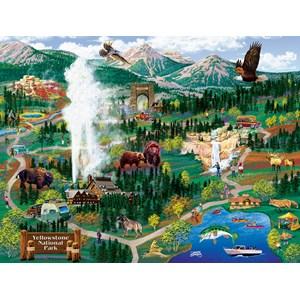 "SunsOut (38892) - Joseph Burgess: ""Yellowstone Adventures"" - 500 piezas"