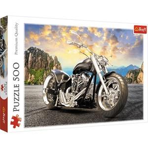 """Trefl (37384) - """"Black Motorcycle"""" - 500 piezas"""