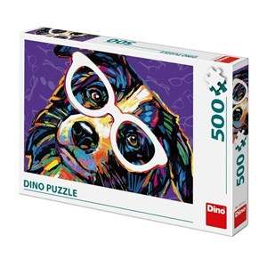 "Dino (50235) - ""Dog with Glasses"" - 500 piezas"