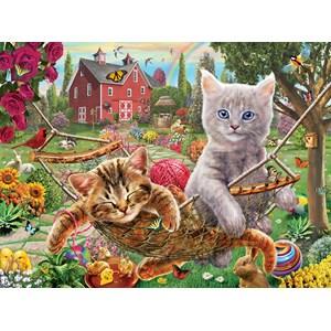 """SunsOut (51820) - """"Cats on the Farm"""" - 300 piezas"""