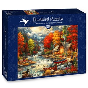 "Bluebird Puzzle (70408) - Chuck Pinson: ""Treasures of the Great Outdoors"" - 1000 piezas"