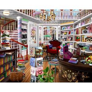 """SunsOut (31534) - Bigelow Illustrations: """"The Book Shop"""" - 1000 piezas"""