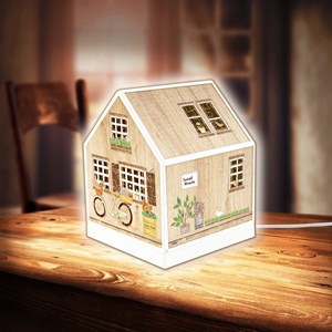 "Pintoo (r1005) - ""House Lantern, Little Wooden Cabin"" - 208 piezas"