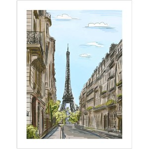"Pintoo (h1524) - ""Street in Paris, France"" - 300 piezas"