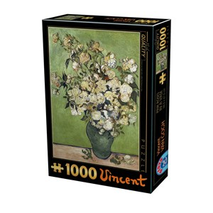 "D-Toys (75871) - Vincent van Gogh: ""Vincent Van Gogh, Pink Roser"" - 1000 piezas"