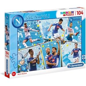 """Clementoni (27138) - """"SSC Napoli Supercolor Puzzle"""" - 104 piezas"""