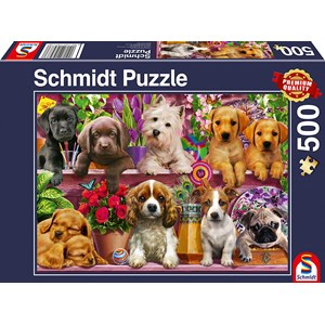 "Schmidt Spiele (58973) - ""Dogs on a Shelf"" - 500 piezas"