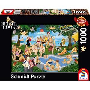 "Schmidt Spiele (59687) - Beryl Cook: ""Summer Festival"" - 1000 piezas"