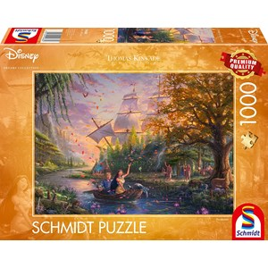 """Schmidt Spiele (59688) - Thomas Kinkade: """"Disney, Pocahontas"""" - 1000 piezas"""