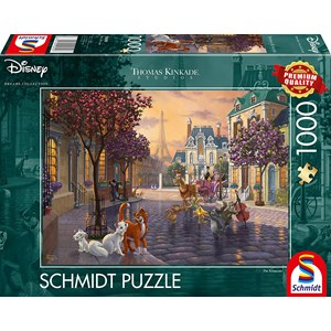 "Schmidt Spiele (59690) - Thomas Kinkade: ""Disney, The Aristocats"" - 1000 piezas"