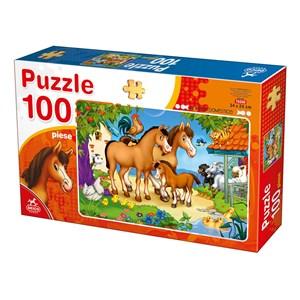 """Deico (76588) - """"Farm Animals"""" - 100 piezas"""