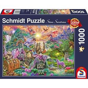 "Schmidt Spiele (58966) - ""Enchanted Dragon Country"" - 1000 piezas"