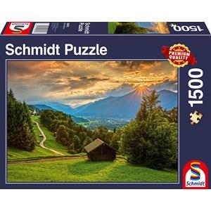 "Schmidt Spiele (58970) - ""Sunset on Wamberg"" - 1500 piezas"