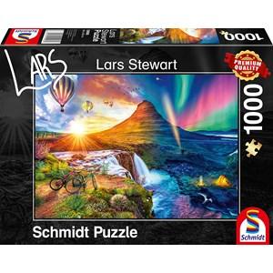 """Schmidt Spiele (59908) - Lars Stewart: """"Island, Night and Day"""" - 1000 piezas"""