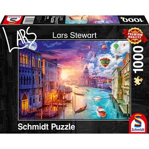 "Schmidt Spiele (59906) - Lars Stewart: ""Venice, Night and Day"" - 1000 piezas"
