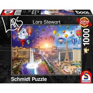 """Schmidt Spiele (59907) - Lars Stewart: """"Las Vegas, Night and Day"""" - 1000 piezas"""