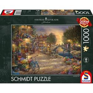 """Schmidt Spiele (59917) - Thomas Kinkade: """"Amsterdam"""" - 1000 piezas"""