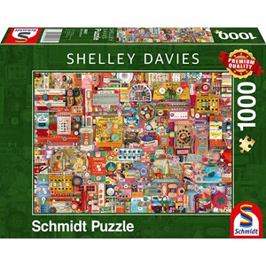 "Schmidt Spiele (59697) - Shelley Davies: ""Vintage Handmade Items"" - 1000 piezas"